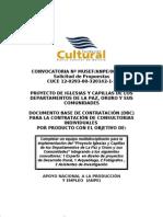 Convocatoria Proyecto De Iglesias Y Capillas De Los Departamentos De La Paz, Oruro Y Sus Comunidades
