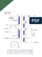 Imprimir - Transformadore de línea_ HR8374 (HR 8374) - 2G25027A3D_RCA RBA29550 RBA29551