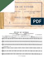 Georges Dandelot - Estudios de Ritmo - Libro 1