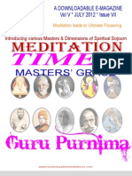 Meditation Times July 2012