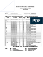 professional development log 2009-2012