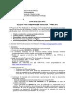 Edital Do Mestrado Turma 2012
