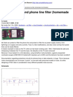 Your Electronics Open Source - AC Power Filter and Phone Line Filter (Homemade Circuit Breaker) - 2008-11-12