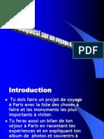 webqwest sur un voyage d´une semaine à Paris