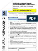Tipo 3 - UFAL-HUPAA 2012 - Auxiliar em Administração