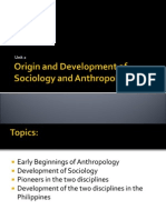 2_Origin and Development of Sociology and Anthropology