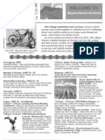 Velo Village weekend summary - handout for cyclists
