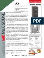 MK LCR851 Speaker Specsheet