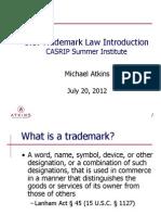 CASRIP - 2012 U.S. Trademark Law Introduction