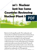 Japan's  Nuclear Accident has Some Countries Reviewing Nuclear