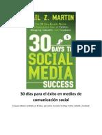 Redes Sociales 30dias