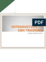 Introduction to Osha Training