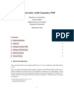 TeXnicCenter With Sumatra PDF