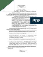 OCA Circular No. 104-2007