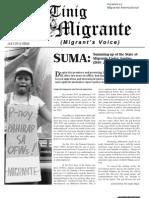 Tinig Migrante SONA 2012 issue