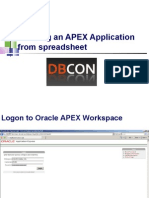 Creating an Oracle APEX Application From Spreadsheet