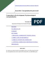 Cooperación al desarrollo Conceptualización psicosocial