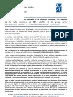 3C Etudes - communiqué Etude évaluation de la satisfaction des médias par le Tunisien