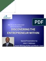 John Discovering the Entrepreneur Within