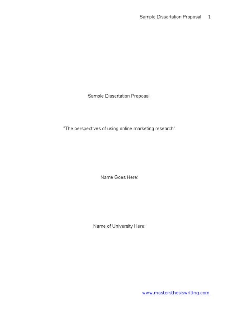 Dissertation proposal qualitative research