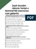 Concordância Verbal e Nominal160
