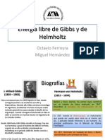 Energía libre de Gibbs y de Helmholtz