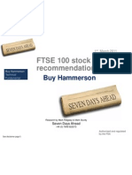 FTSE 100 Stock Recommendation 1st March Buy Hammerson