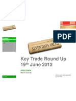 Key Trade Round Up 19th June 2012