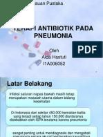 Terapi Antibiotik Pada Pneumonia