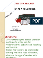 Qualitites of a Teacher