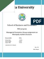 Managerial Economics esayas aragaw dereal
