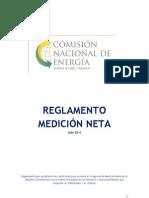 CNE, Reglamento Medicion Neta (Net-Metering Rules), 7-2011