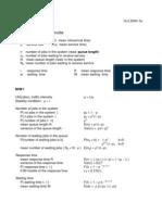 Queueing System Formulas