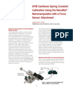 Xidex Application Note - AFM Cantilever Spring Constant Calibration - 110314