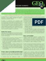 GEO-4 Boletín Informativo viodiversisas y Bienestar humano