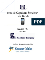 Nokia E5 MCS User Guide 5.1.11