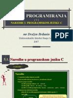 OP - T05 - Naredbe u Programskom Jeziku C