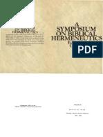 A Symposium on Biblical Hermeneutics