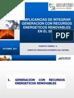 Implicancias de Integrar Generacion Con Recursos Energeticos Renovables en El Sein