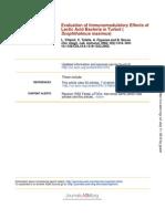 Evaluation of Immunomodulatory Effects of Lactic Acid Bacteria In