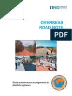 Overseas Road Note 01