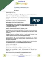 Glosario de términos botánicos en la Fitoterapia