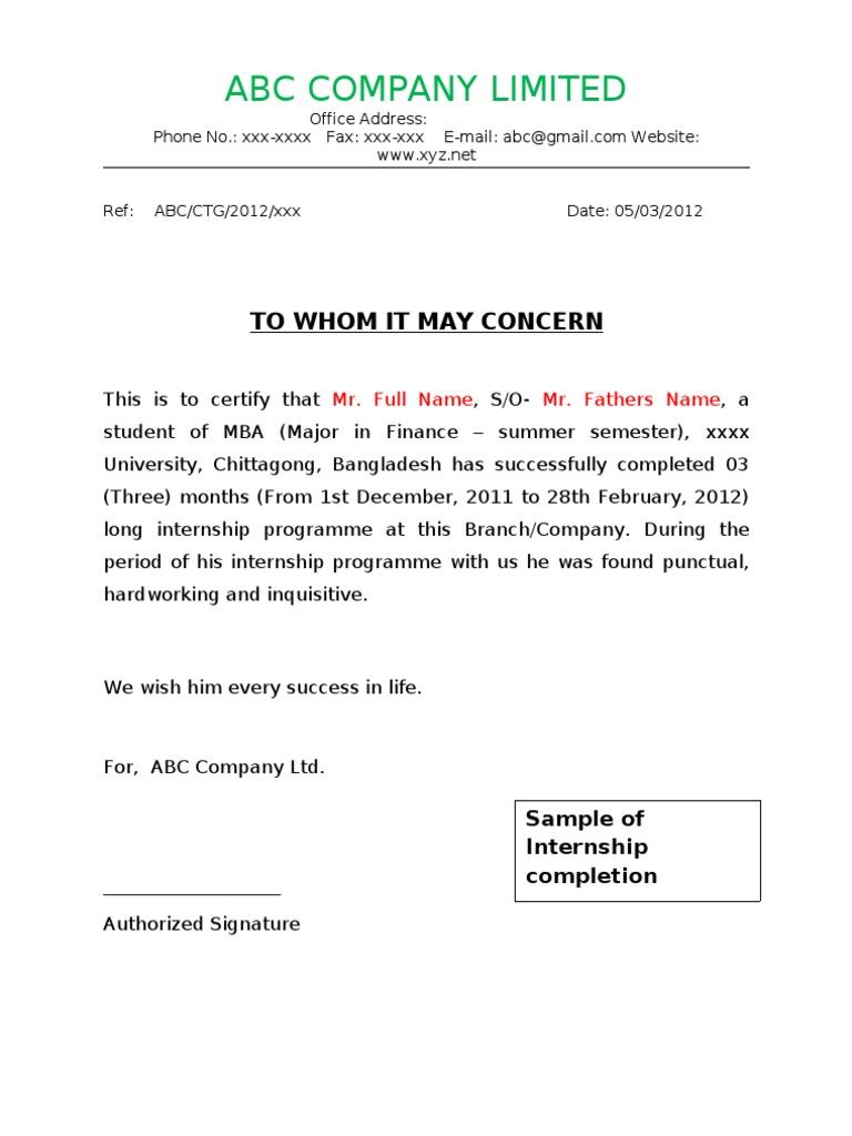 Internship completion certificate format summer internship completion certificate format yadclub Images