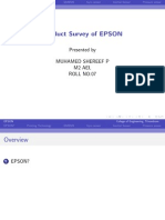 MEMS product survey of EPSON