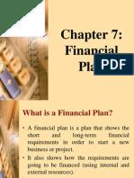 Chap 7 Financial Plan