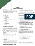 Load Combinations - AISC-ASD