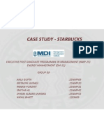 Starbucks - Case Study