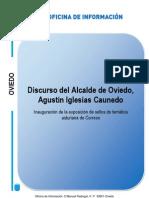 Intervención de Agustín Iglesias Caunedo en la presentación de la nueva exposición de Correos