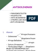 Antikolinergik, Pelumpuh Otot, Obat Ganglion