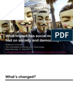 The Impact of Social Media on Society and Democracy